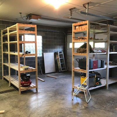 woodshop storage shelf