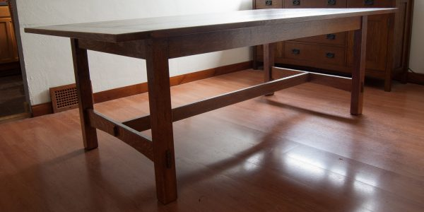 Arts and Crafts style dining room table