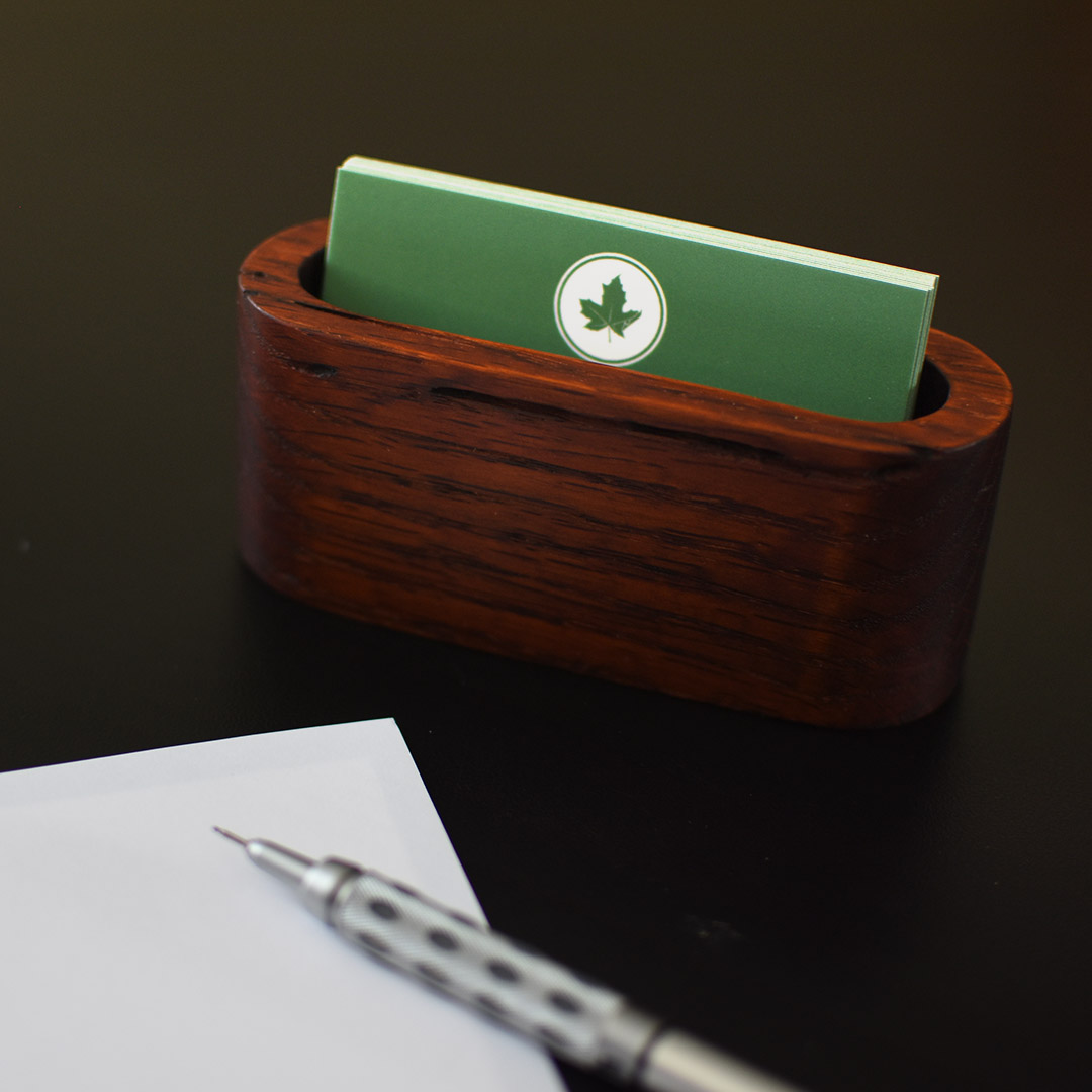 curved business card holder