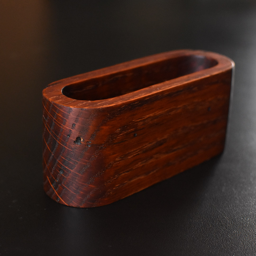 oak business card case