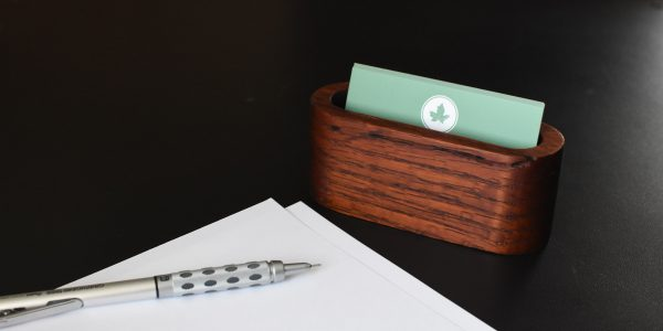 Reclaimed Oak Business Card Holder